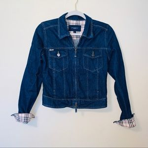 Burberry Authentic Denim Zip Up Jacket Sz 8